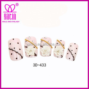China Artificial Nail Supplier Hot Selling 3D Jewelry Nail Art Tips