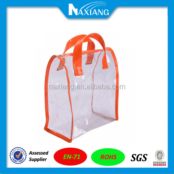 Good quality clear vinyl pvc zipper pouch for packaging