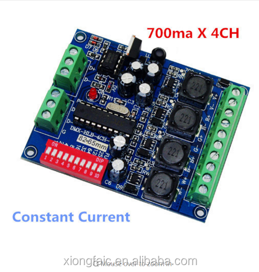 DMX 4CH RGB Controller Constant Current 700ma High-power ,drive ,DMX512 decoder For led strip