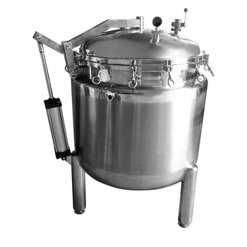 300L electric heating industrial pressure cooker for food processing