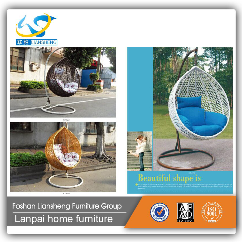 Top quality outdoor furniture hanging chair egg Chair outdoor rattan swing chair