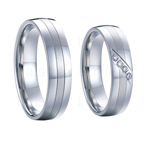 get quotations western handmade silver white gold color pure titanium engagement wedding bands promise rings pair sets for - Discount Wedding Rings Women