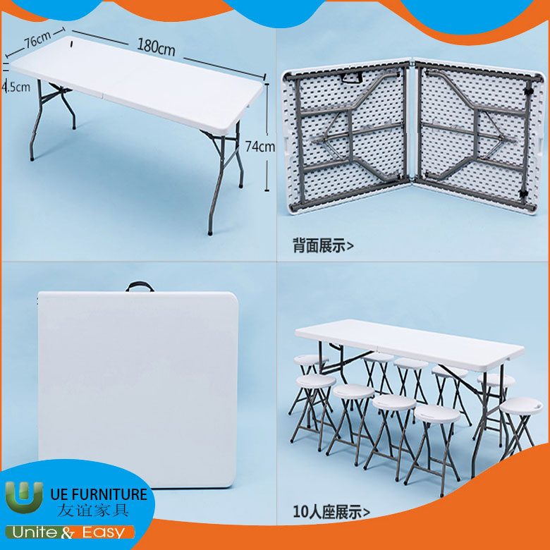 Quality assured plastic stable cheap price turn over desk and durable family furniture