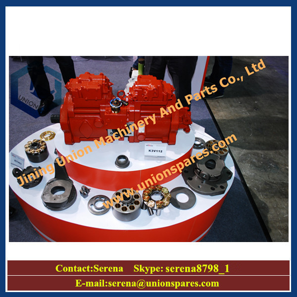 kawasaki hydraulic pump spare parts cylinder block valve plate piston shoe retainer plate drive shaft
