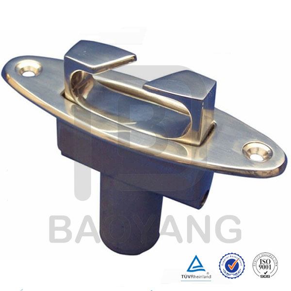 Metal casting SS316 wire rope fitting Dock cleat