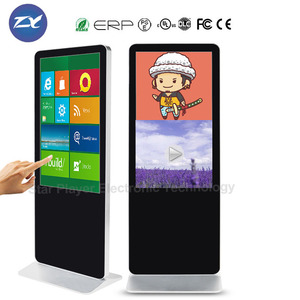 windows system 50 inch led commercial advertising display screen kiosk