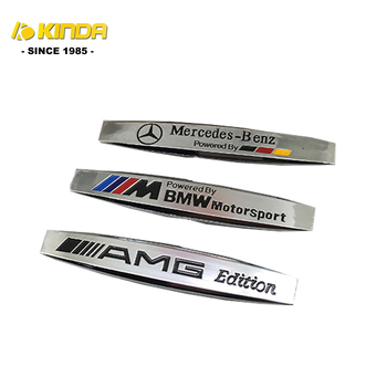 Custom Made Grappige Metalen Tapijt Auto Chrome 3D Auto Emblemen & Auto Badges logo