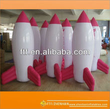 Promotion pvc inflatable rocket
