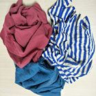 Mixed dark Color cotton cleaning cloth rags+ cheap price high quality