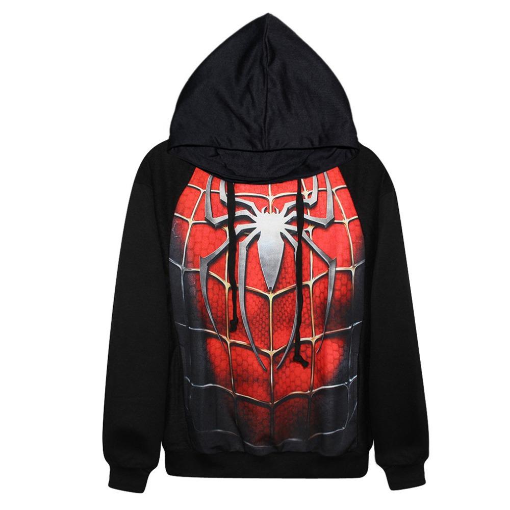 Get Quotations · soften cotton new Marvel Hero Spiderman sping long hoodie  sweatshirt hood Harajuku hoody women men casual 022e788bf