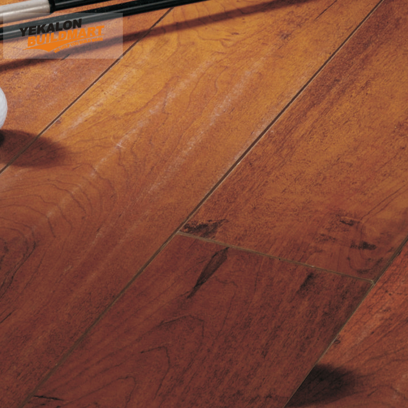 12.3Mm Natural Hardwood Texture V-Groove Waxing Laminate Flooring