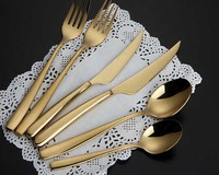 gold plated cutlery, gold cutlery set, gold plated flatware wholesale