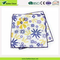 Beautiful absorbent printing flowers wash cleaning microfiber towels car