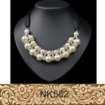 Cou De Noir Perle Perles Grande Ruban collier Buy Collier grand Soie Du Soie Cordon Perle Ras Nwnv0m8