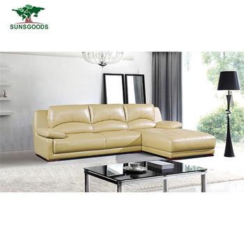 Whole Price L Shaped Leather Sofa