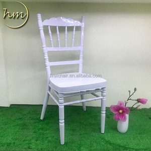 Wedding used furniture crown white metal chiavari chair