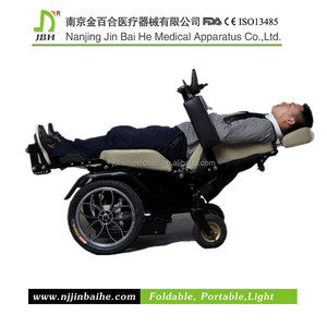 Luxury back tilt handicapped electric standing wheelchair
