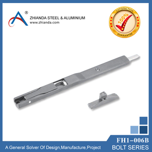 FH1-006B zinc door tower bolt,zinc window flush bolt