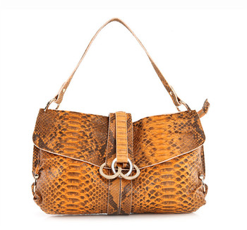 Snake Skin leather women handbag 100% genuine leather ladies totes branded handbag