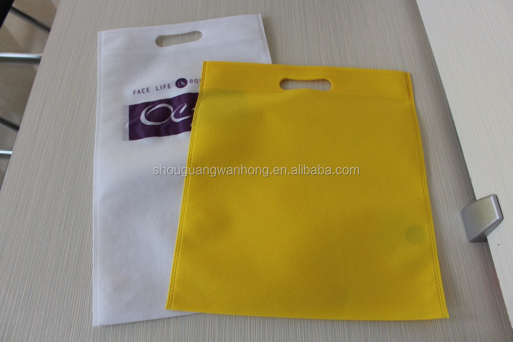 Cheap eco-friendly d cut /t shirt pp spunbonded nonwoven printed shopping bags