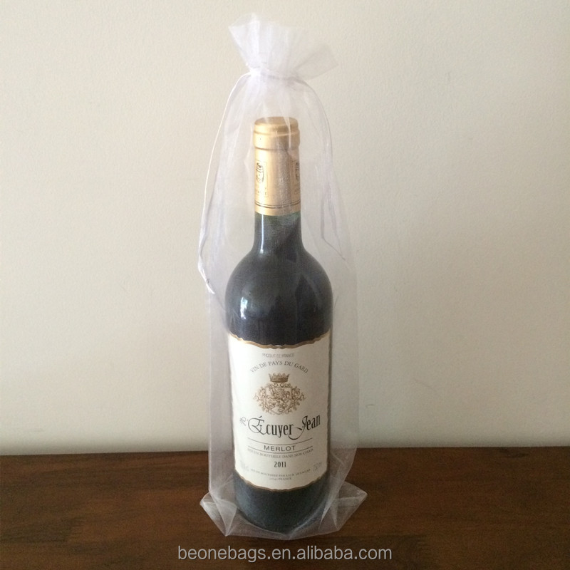 Custom organza bag for wine