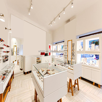 shop interior design glass display showcase for jewelry