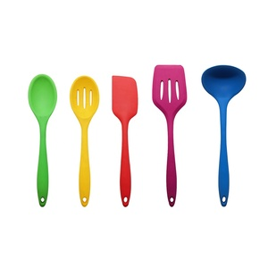 Non-stick Silicone utensil kitchens, silicone surface nylon kitchen tools utensils and equipment
