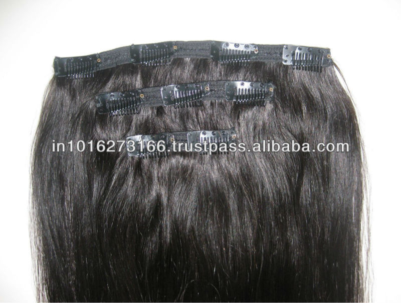 Clip On Human Hair Extensions