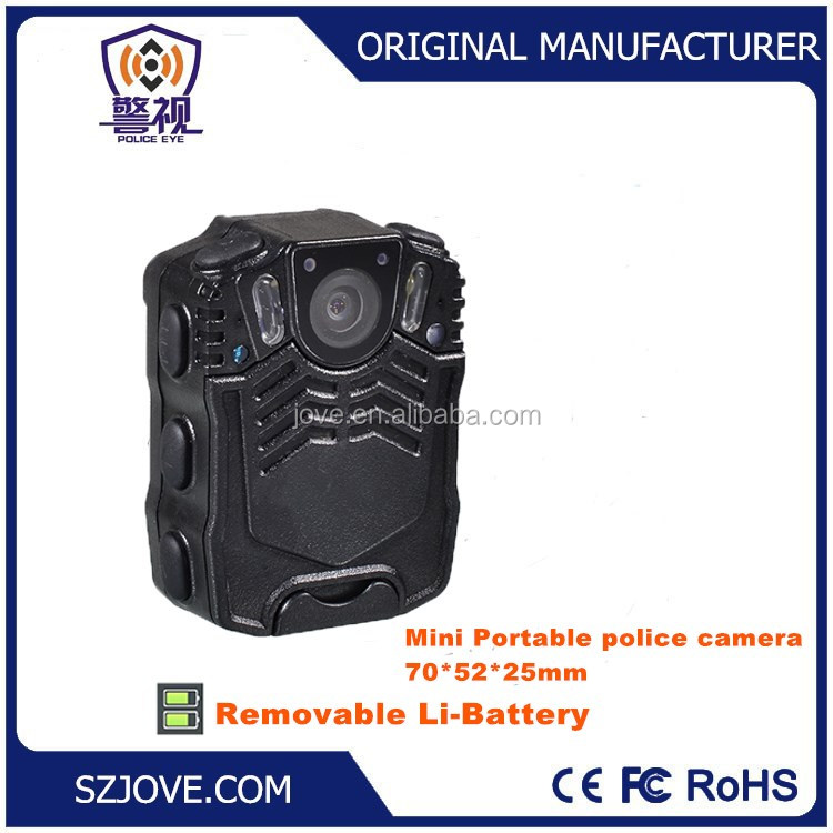 1296P Police law enforcement recorder Mini size camera body worn police camera|OEM