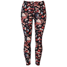 OEM High Waist Printed Legging Femme Peach Skin Brushed Women Leggings