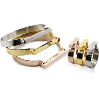 Stainless Steel Jewelry D Horseshoe Flat Shackle Men Rings Punk Finger H Love Rings Gold Plated h Shape Rings for women