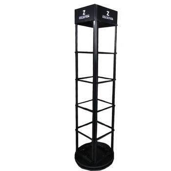 Factory Showroom Rotary Marble Mosaic Tile Tower Display Rack for Tile Supplier