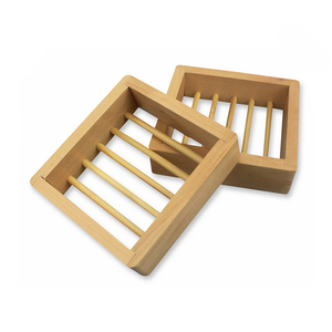 Whole Sale Bamboo Wood Soap Box Plate Dish Eco-friendly Wooden Soap Dish for Bathroom