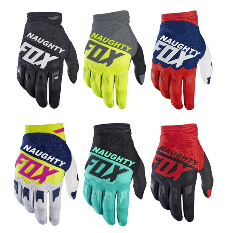 Mens Off-road MX MTB DH Dirt Bike Bicycle Cycling Glove Motorcycle Glove Top Quality MX Gloves Dirtpaw Motocross Gloves, Black red blue