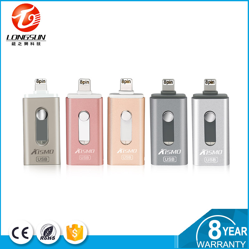 2016 Best price 2 in1 32gb Usb Flash Drive U Disk Memory Stick For Ipad Iphone 6