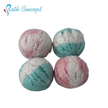 Handmade colourful bubble bath bar