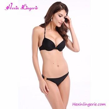 2017 Wholesale Black Two Piece Young Sexy Bikini Girl