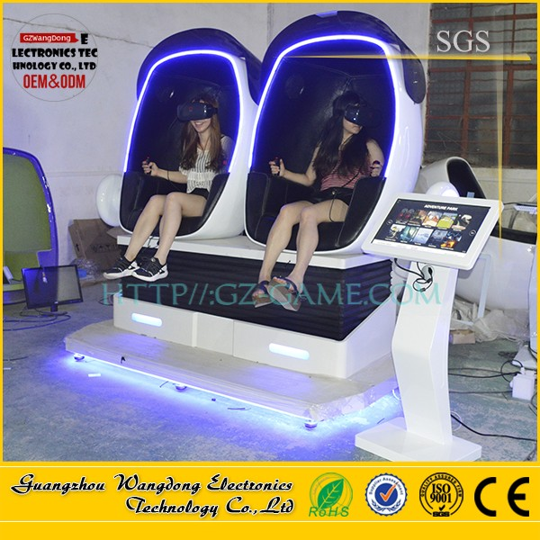 The Hottest 2 seaters 9d vr egg cinema /IAAPA Game Machine <strong>Show</strong> 9d vr with 1 seat