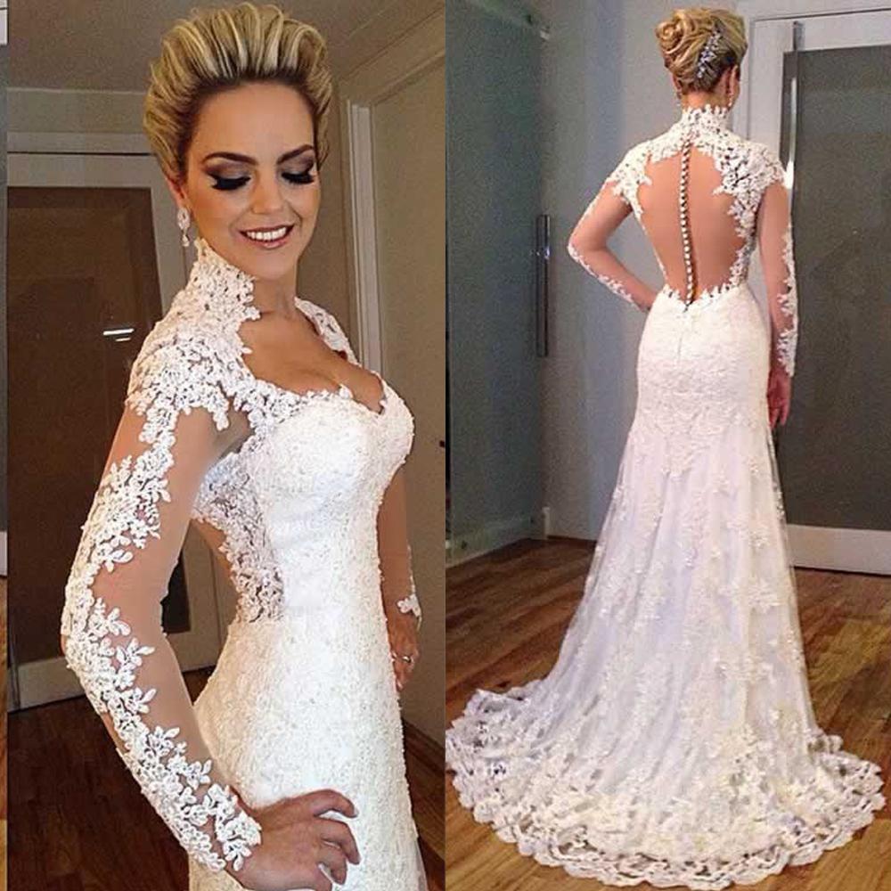 2018 Milla Nova Simple Satin Wedding Dresses 34 Long: Aliexpress.com: Acheter Romantique Longue Robe De Mariée