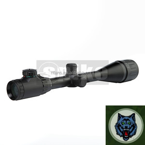 Spike 6-24X50 Tactical Hunting Rifle Scope, Green and Red Illuminated Crosshair Gun Scopes with Free Mounts