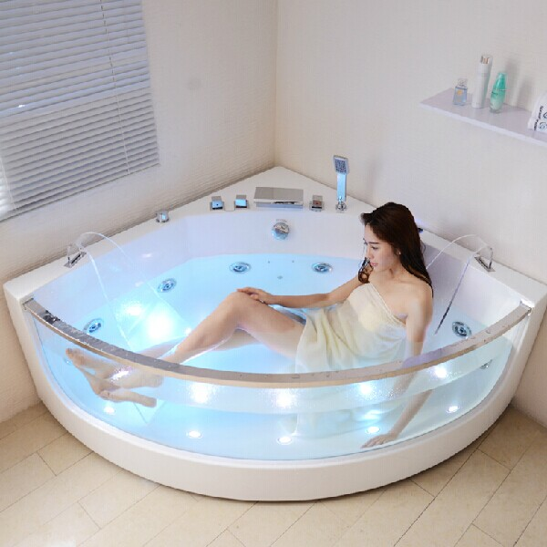2015 Hot Sale Plastic Bathtub For Adult Combo Massage Air U0026 Whirlpool Glass  Bathtub Sf5b011 Corner Bathtub With Glass   Buy Corner Bathtub With  Glass,Glass ...