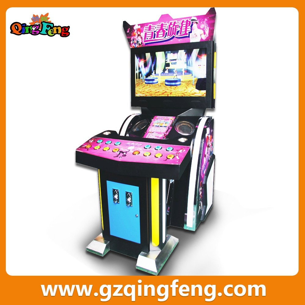 Qingfeng Mobile Karaoke Electronic Cabinet Coin Operated Games ...