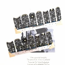 Twinkle Star Nights Nail Art Sticker Patch 14 pcs set Waterproof Decals Foils Gel Polish French