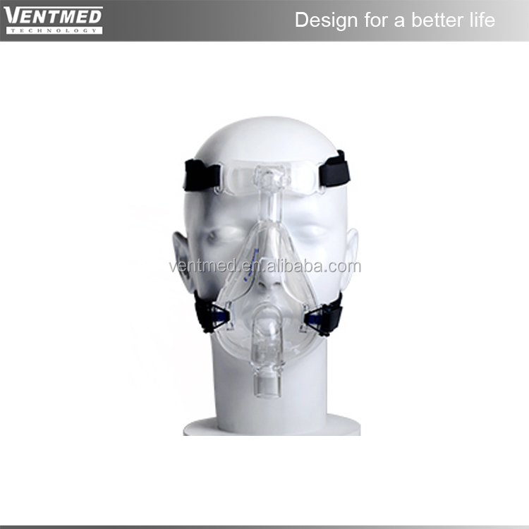 Respiratory full face mask for cpap and bipap machines