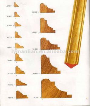 Ae1818 corner design teak wood mouldings buy ae1818 teak - Molduras de madera ...