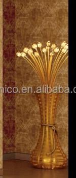 24k Gold Luxury Flower Vase Floor Lamp Bf02-6058 - Buy Flower Vase ...