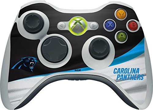 NFL Carolina Panthers Xbox 360 Wireless Controller Skin - Carolina Panthers Vinyl Decal Skin For Your Xbox 360 Wireless Controller