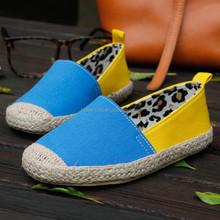 Boys and girls canvas shoes color block canvas zapatillas casual zapatos alpargatas forro estampado de leopardo