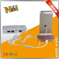 Tabletop charge dock for mobile phone with alarm function