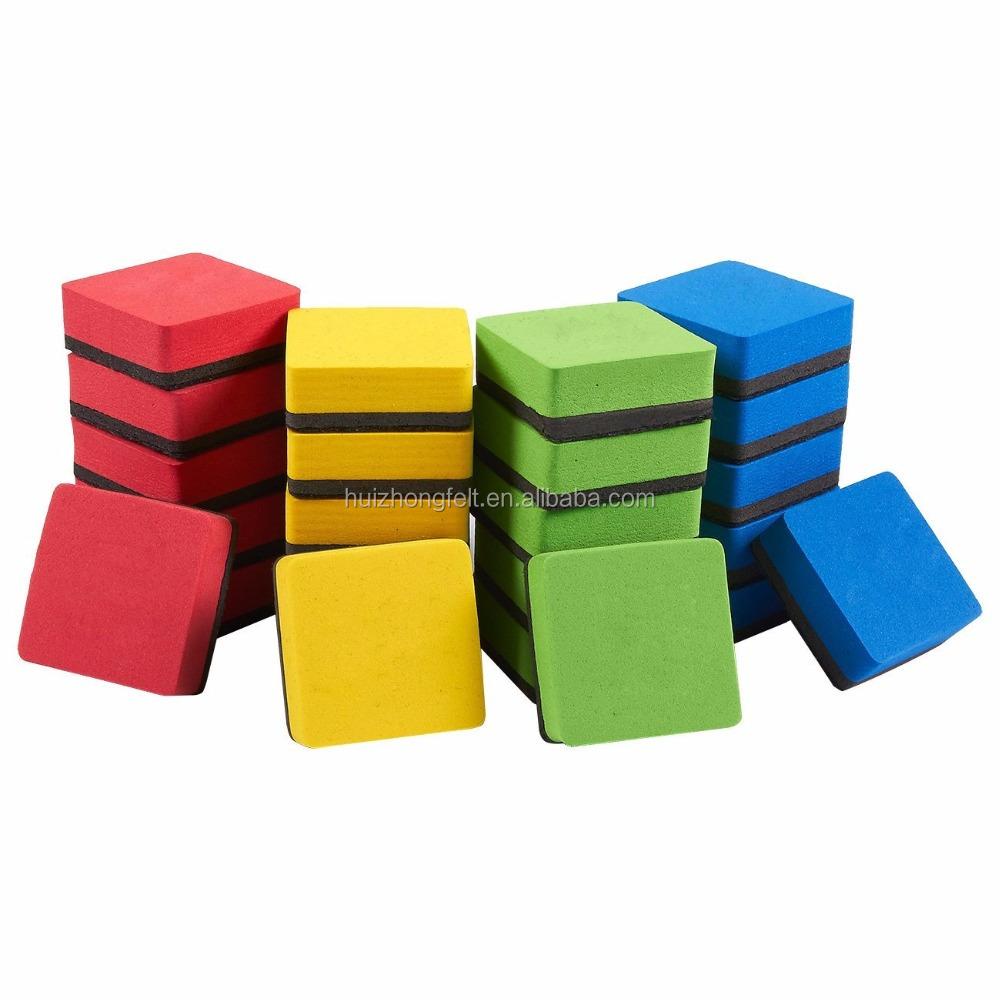 चुंबकीय व्हाइटबोर्ड सूखी Erasers, चुंबकीय रबड़ सफाई सफेद बोर्डों के लिए घर पर, कार्यालय और स्कूल